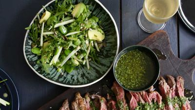 Jacqueline Alwill's summer green salad with broad beans, green apple and mint