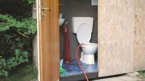 The schoolboy did not realise the toilet was not connected to a sewer system. (Supplied/Polizei Meppen)