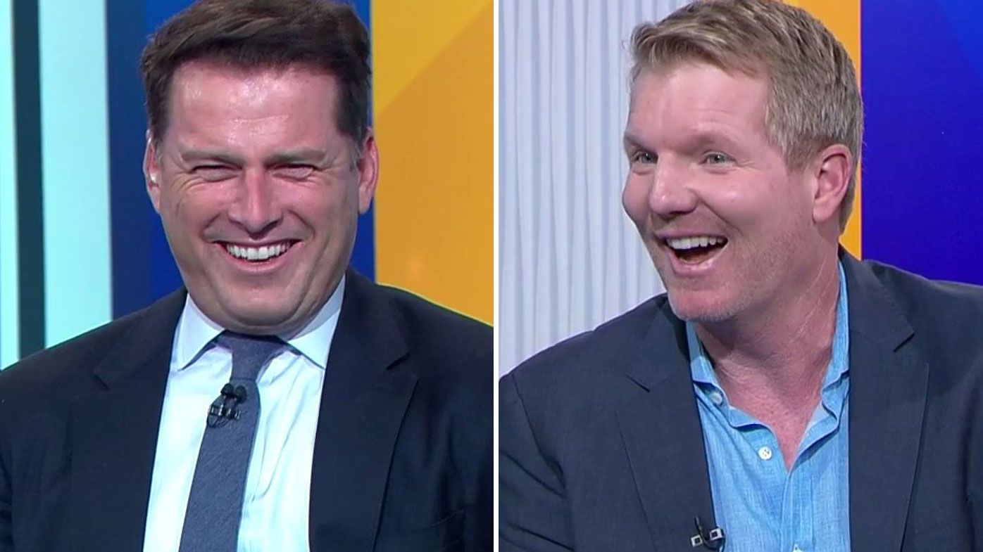'It's on, Stefanovic v Courier': Karl hilariously challenges Jim Courier to one-on-one ahead of 2019 Australian Open