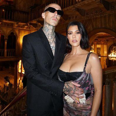 Kourtney Kardashian and Travis Barker.
