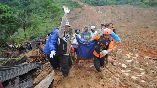 Indonesian landslide death toll rises to 15 with 20 people still missing