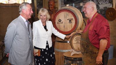 The pair visited the Seppeltsfield Winery in Barossa Valley as part of their South Australia tour. (AAP)