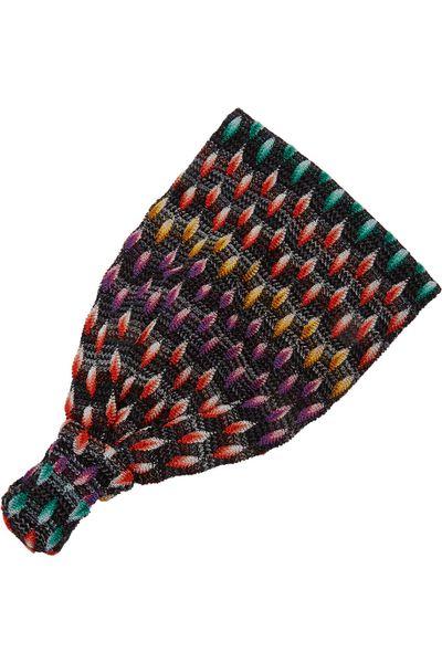 """<a href=""""http://www.net-a-porter.com/au/en/product/503483"""" target=""""_blank"""">Crochet-knit headband, $141.42, Missoni</a>"""