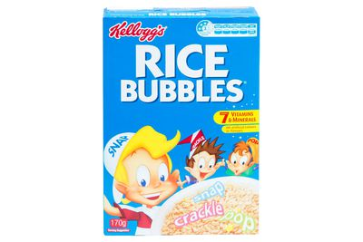 Kellogg's Rice Bubbles: Almost a teaspoon of sugar