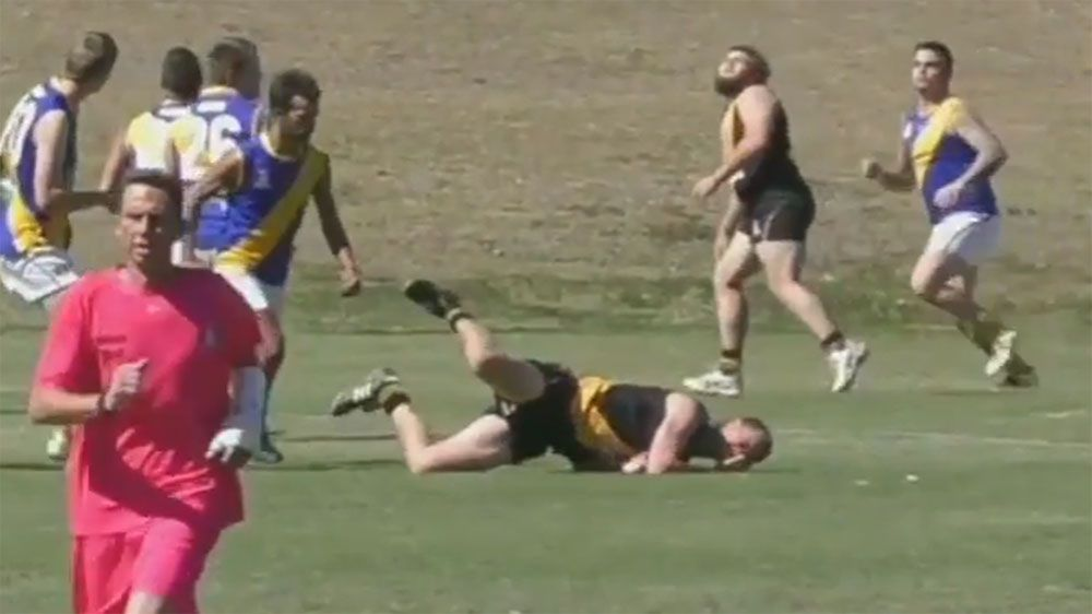 Queensland AFL player banned for 20 years for kicking opponent