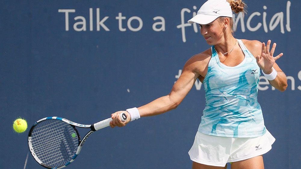 Tennis player Yulia Putintseva has epic meltdown at Connecticut Open