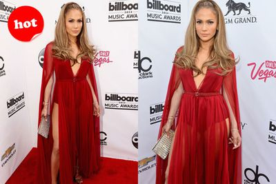 Sigh... it's like TheFIX's hot stamp was made for JLo's Little Red Riding Hood-inspired number.
