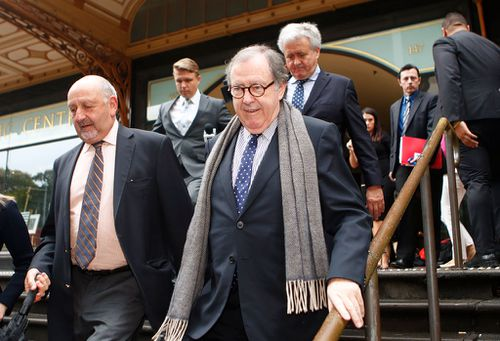 Suspended Magistrate Graeme Curran refused to answer any questions outside court this morning (Image: AAP)