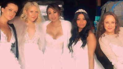 Ines, Lauren, Ning, Cyrell and Melissa from Married At First Sight