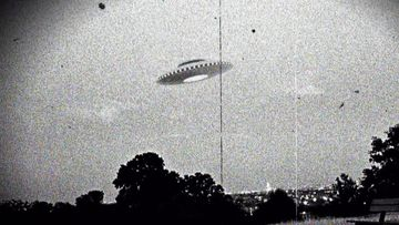 Photograph of the supposed Westall UFO encounter where more than 200 students and teachers at two Victorian state schools allegedly witnessed an unexplained flying object which descended into a nearby open wild grass field