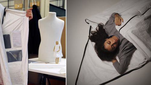 The wearable shelter sports interior pockets and can be converted into a sleeping bag. (RCA)
