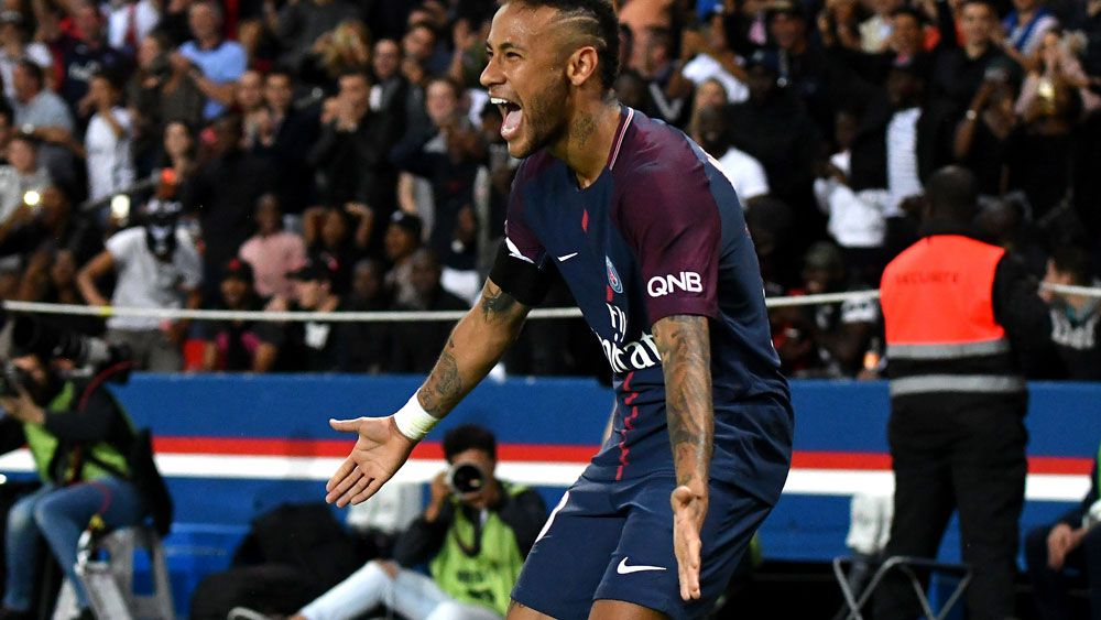 Neymar celebrates a goal for Paris Saint-Germain. (AAP)