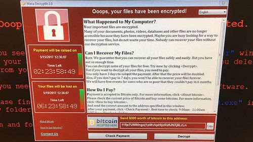 'Ransomware' is malicious software that infects machines, locks them up by encrypting data and demands a ransom to restore access. (AAP)