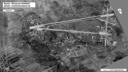 al-Shayrat Airfield, Syria. (Digital Globe)
