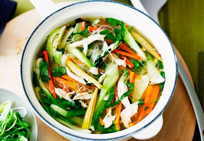 "Recipe:&nbsp;<a href=""/food/8172864/chicken-noodle-soup"" target=""_top"" draggable=""false"">Chicken noodle soup<br /> </a>"