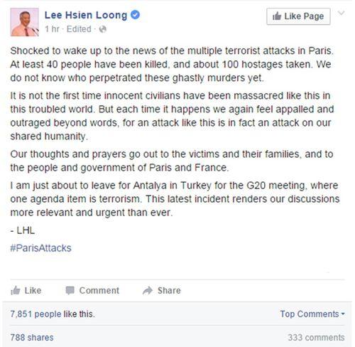 Singaporean politician Lee Hsien Loong. (Facebook/Lee Hsien Loong)