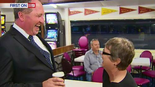 Barnaby Joyce in Lismore. (9NEWS)