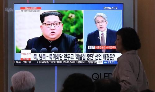North Korea said Friday it would suspend nuclear tests and intercontinental ballistic missile launches ahead of summits with the US and South Korea. (AP)