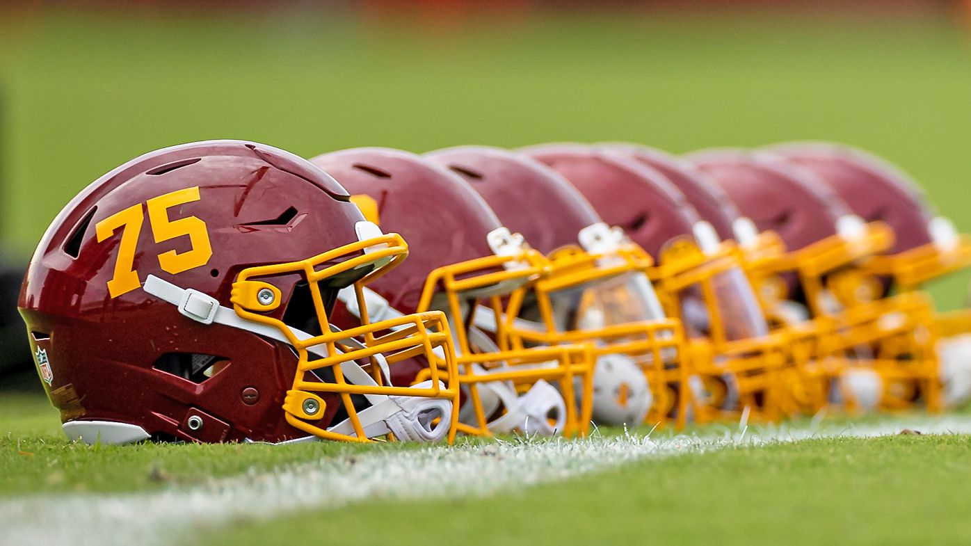 Washington Football Team helmets