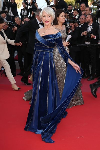 Actress Helen Mirren in Elie Saab at the screening of 'Girls Of The Sun' during the 71st annual Cannes Film Festival, May 12, 2018