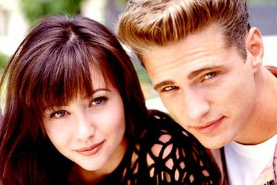 "<B>The couple:</B> In the teen drama classic Shannon Doherty played Brenda Walsh and Jason Priestly played her twin brother Brandon. Doherty told <I>Radar</I> magazine that the two enjoyed ""a very, very nice flirtation"", and hinted that they may have taken it even further..."