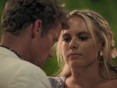 Cassandra Wood and Richie Strahan in Bachelor in Paradise