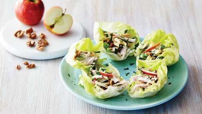 """<a href=""""http://kitchen.nine.com.au/2016/05/04/15/38/pink-lady-waldorf-salad-with-chicken-and-toasted-walnuts"""" target=""""_top"""">Pink lady waldorf salad with chicken and toasted walnuts</a> recipe"""