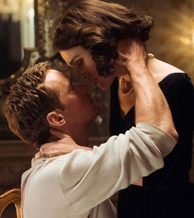 Keira Knightley, Alexander Skarsgård, sex scene, movie, The Aftermath