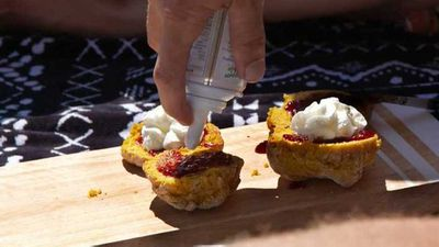 "Recipe: MAF's Andrew's mum's scones -&nbsp;<a href=""http://kitchen.nine.com.au/2017/02/12/13/33/colleens-pumpkin-scones-from-married-at-first-sight"" target=""_top"" draggable=""false"">Colleen's pumpkin scones from Married at First Sight</a>."