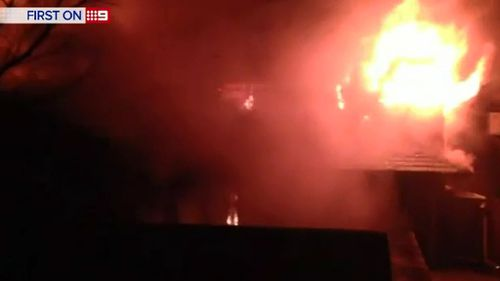The Kogarah Bay home was destroyed by fire. (9NEWS)