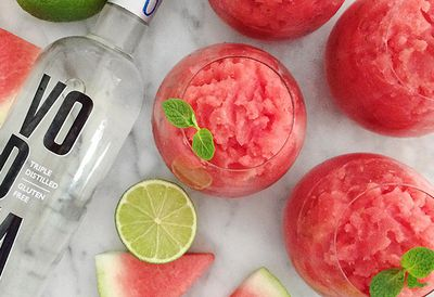 Watermelon vodka slushie