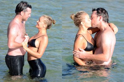 We warned you about the PDA! On the 10th of October, the pair hit Bondi beach where they were snapped locking-lips in the sea. <br/><br/>Sourc Matrix Media <br/>