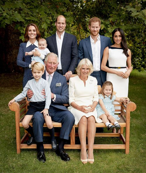 The prince's Clarence House office released two family portraits to mark the birthday.