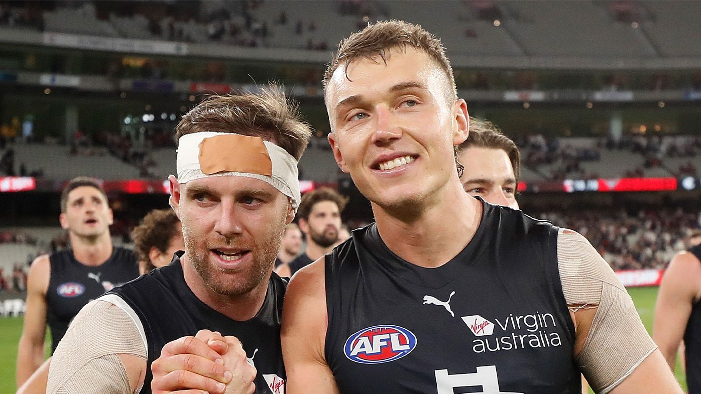 Carlton pull away for comfortable win over Essendon but must address 'pedestrian' defensive running, greats say