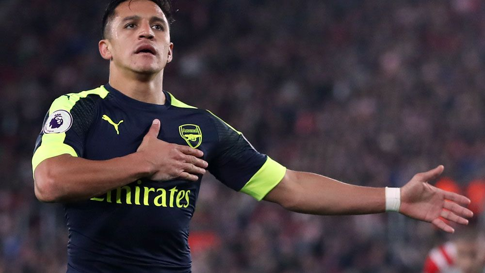 Alexis Sanchez scored a superb goal for Arsenal against Southampton. (AAP)