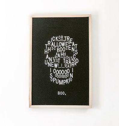 spooky skull for halloween