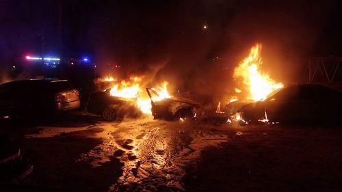 Smeaton Grange caryard fire.