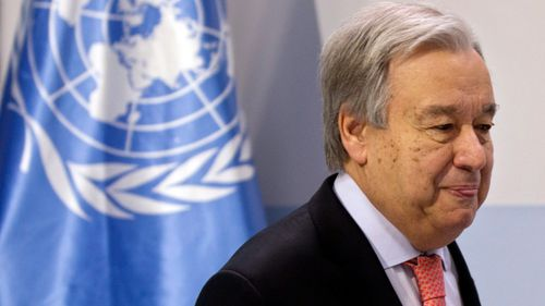 UN Secretary-General Antonio Guterres (AP Photo/Paul White)