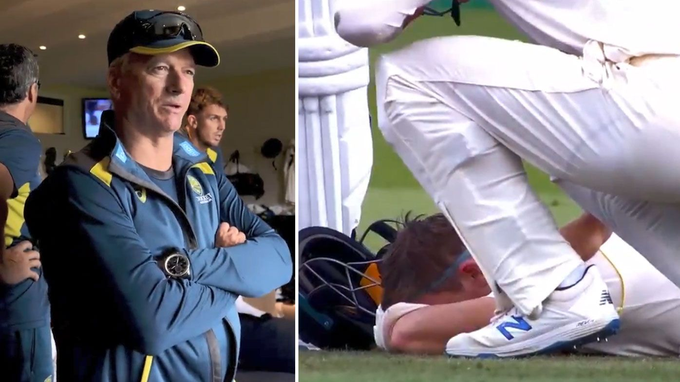Never-before-seen reaction to Steve Smith's Ashes concussion revealed in new doco