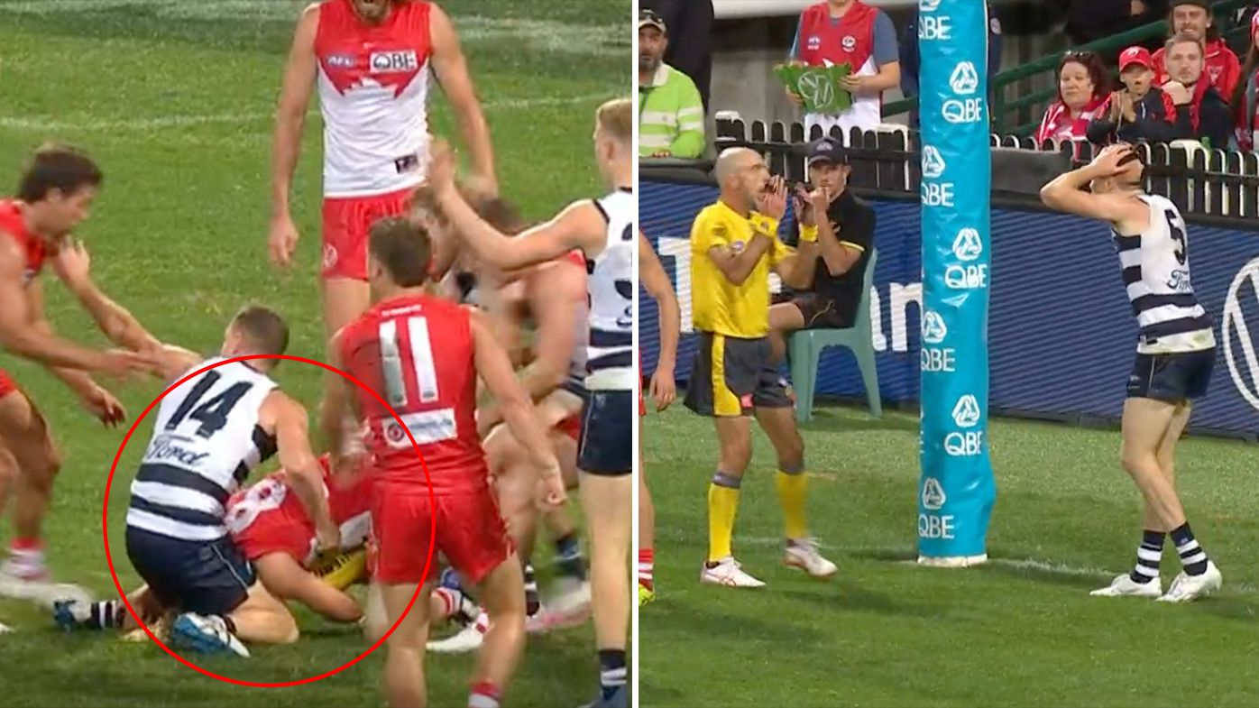 Chris Scott expecting AFL to admit umpire error after disallowed late Jeremy Cameron mark
