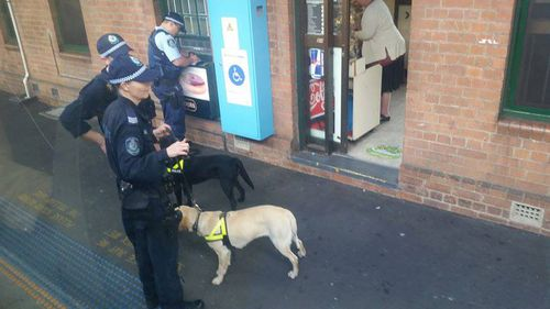 This operation at Strathfield railway station had two dogs, meaning 16 additional police would be needed to be present as per standard operating procedures