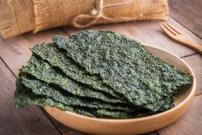 <strong>...for seaweed sheets (less than 50 calories).</strong>