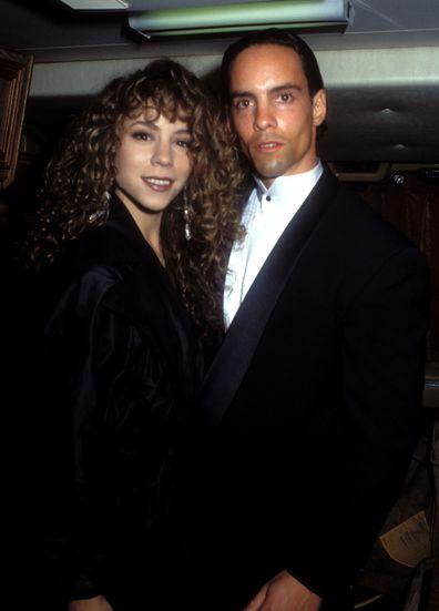 Mariah Carey, brother Morgan Carey, 1991, American Music Awards