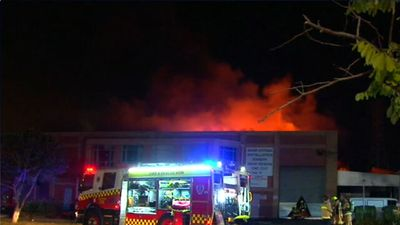 Fire rips through business in Sydney's inner-west