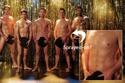 When 90s boy band Boyzone made their comeback in 2008, not all of them managed to get back to their former tip-top shape in time for the publicity shots. Rumour has it that Mikey Graham had a six pack sprayed on so that he'd match his ripped bandmates.
