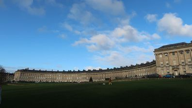 The exterior of The Royal Crescent hotel, Bath