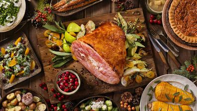Christmas ham feast