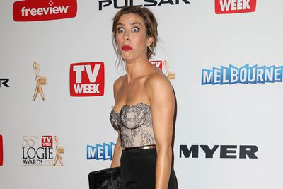 A stunned Brooke Satchwell.<br/><br/>(Image: Splash)