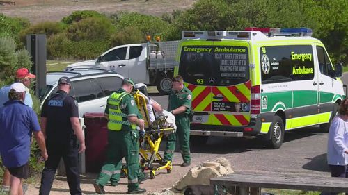 Paramedics treated the local dance instructor after her rescue.