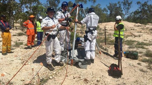 Woman 'lucky to be alive' after falling down 8m mine shaft